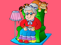 Раскраски Бабушка