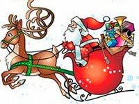 Раскраски Дед Мороз на санях