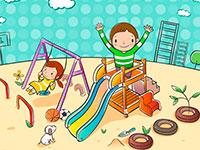 Раскраски Детская площадка