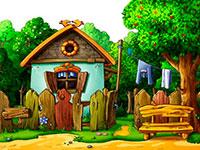 Раскраски Домик в деревне