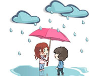 Раскраски Дождь
