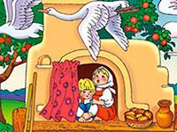 Раскраски Гуси-лебеди