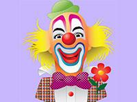 Раскраски Веселый клоун