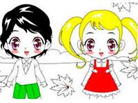 Раскраски Мальчик и девочка
