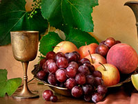 Раскраски Натюрморт с фруктами