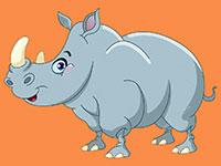 Раскраски Носорог