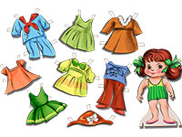 Раскраски Одежда для детей