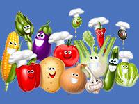 Раскраски Овощи
