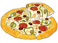 Раскраски Пицца