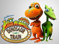 Раскраски Поезд динозавров