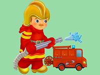 Раскраски Пожарный