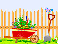 Раскраски Сад