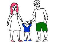 Раскраски Про мою семью
