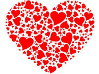 Раскраски Трафарет сердца