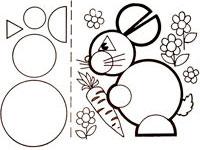 Раскраски Трафареты для аппликаций