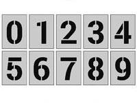 Раскраски Трафарет цифр