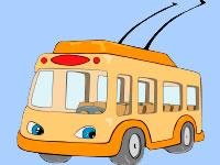 Раскраски Троллейбусы