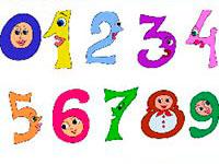 Раскраски Цифры для малышей