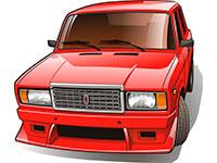 Раскраски Автомобили ВАЗ