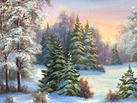 Раскраски Зимний пейзаж