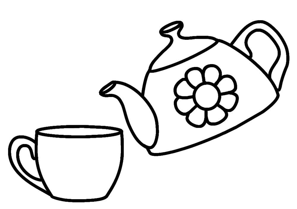 Картинки для детей раскраски посуда