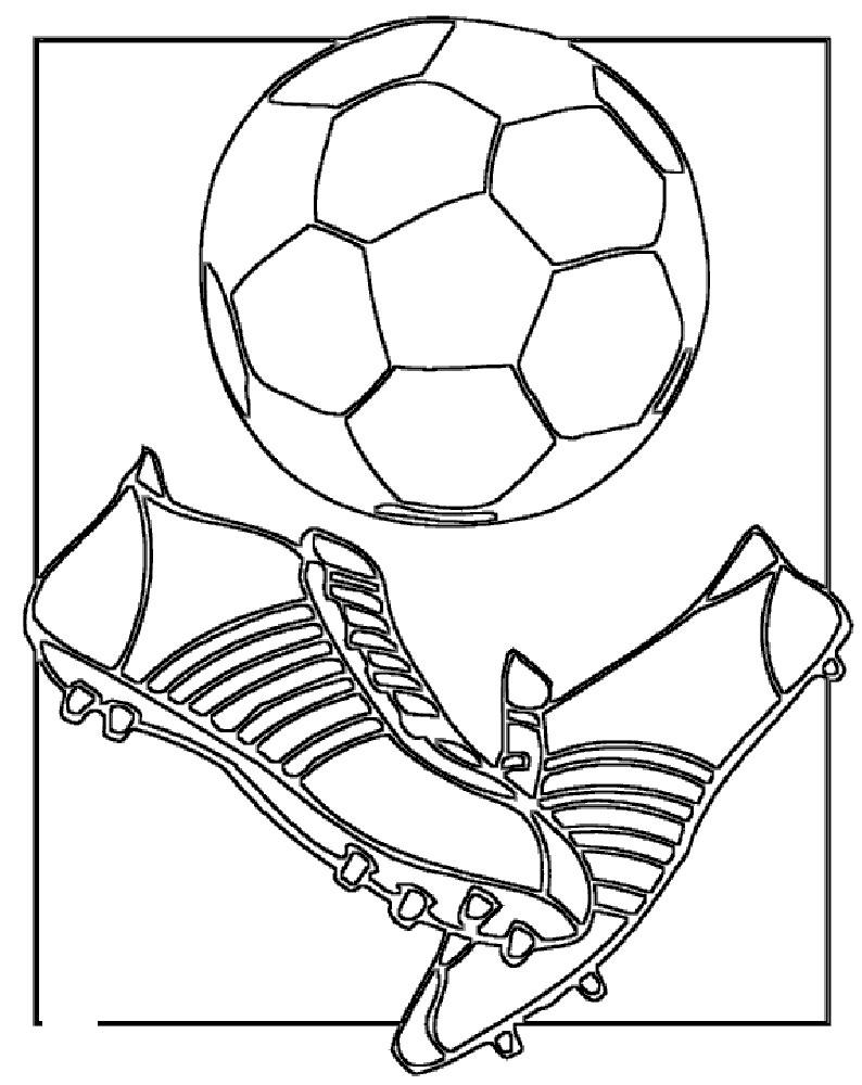 раскраска про футбол