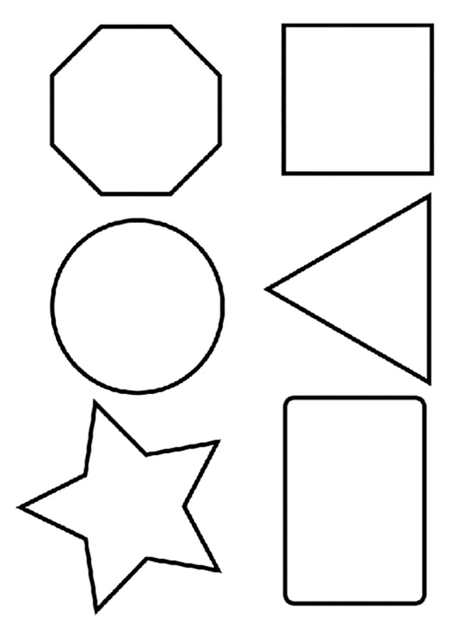 Раскраски Геометрические фигуры скачать и распечатать.