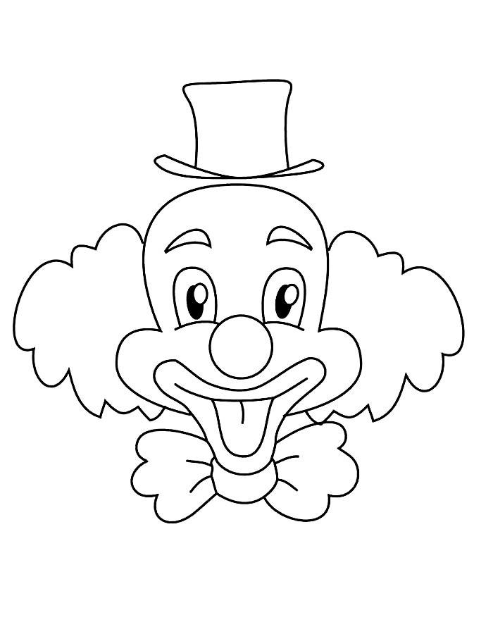 Клоун для раскрашивания