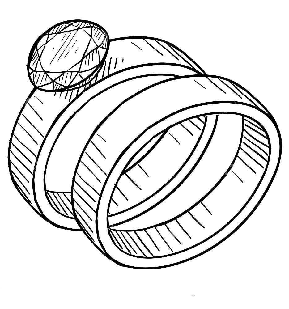 раскраски кольцо скачать и распечатать