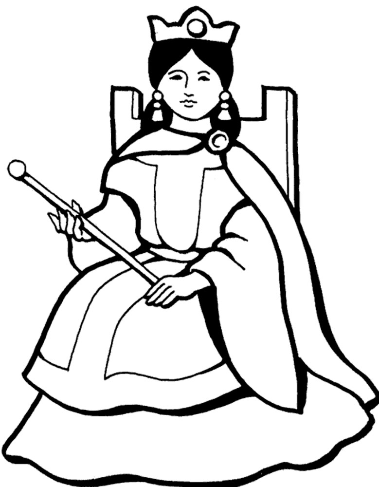 Images Of Queen Clipart Black And White