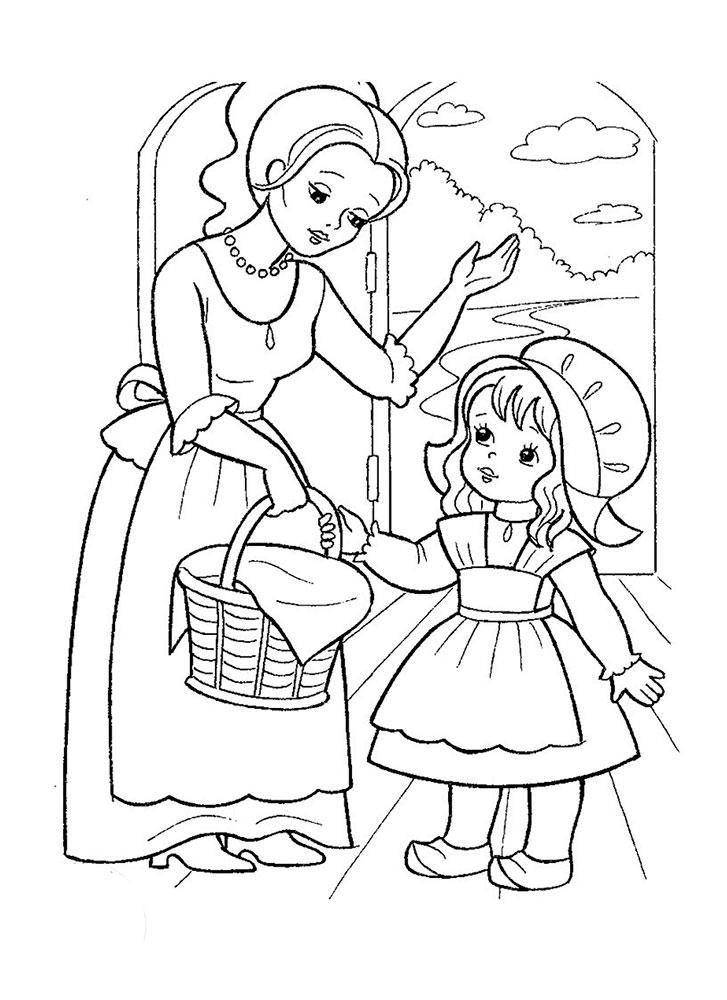 сапропелем картинки рисунки из сказки красная шапочка тесто, универсальная начинка
