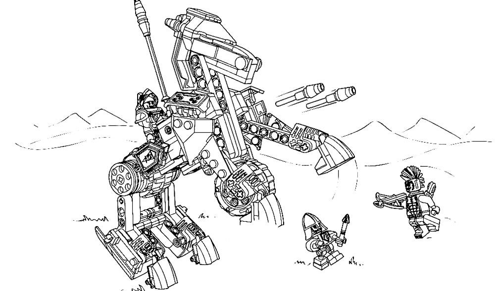 Lego nexo knights 70312 механический конь ланса обзор + 1 щит.