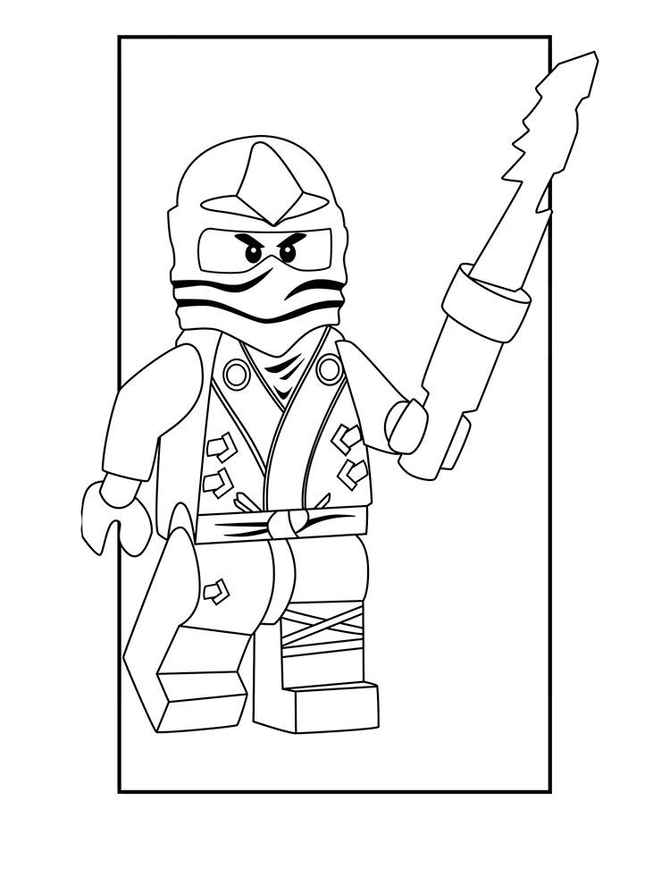 Раскраски Лего Ниндзяго скачать и распечатать.