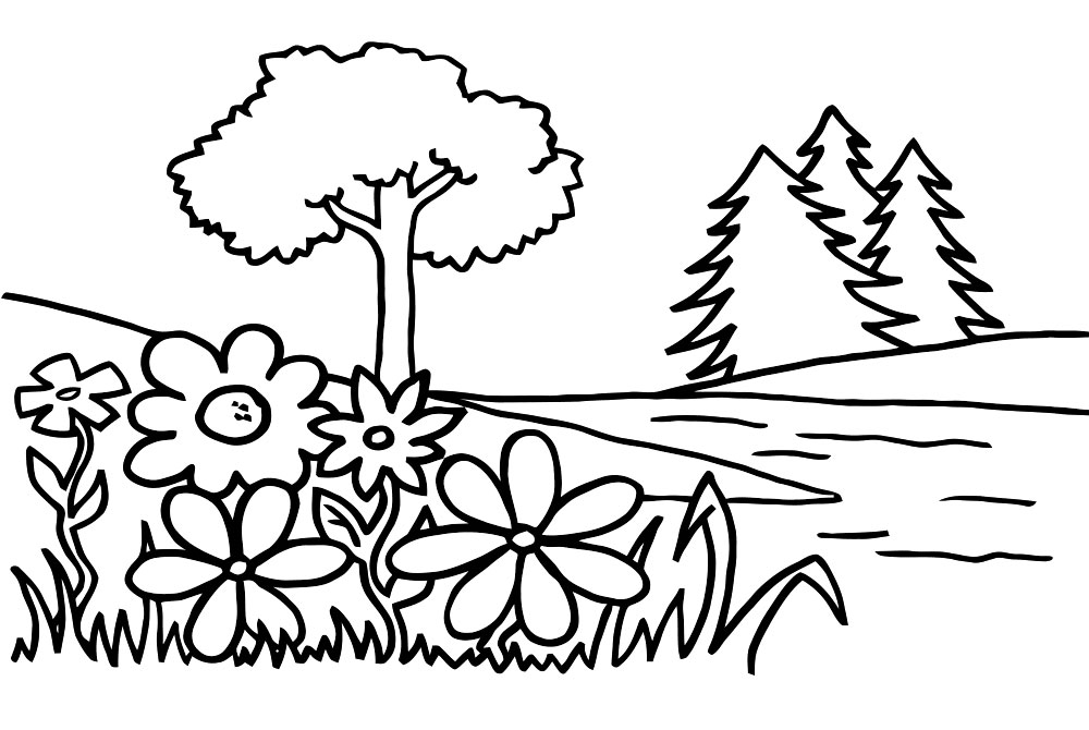 forest coloring pages free printable pictures
