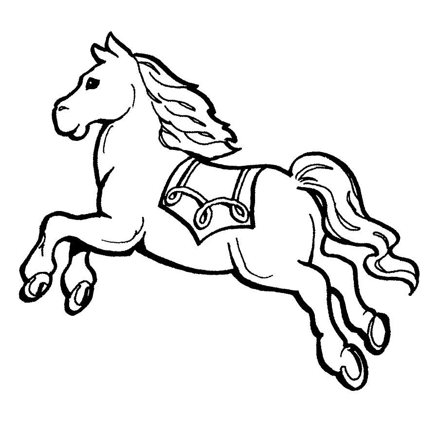 раскраски про лошадей скачать и распечатать