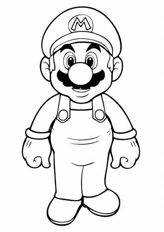 Марио раскраски картинки