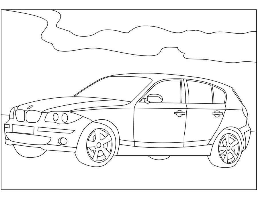 Раскраски Машины БМВ скачать и распечатать.