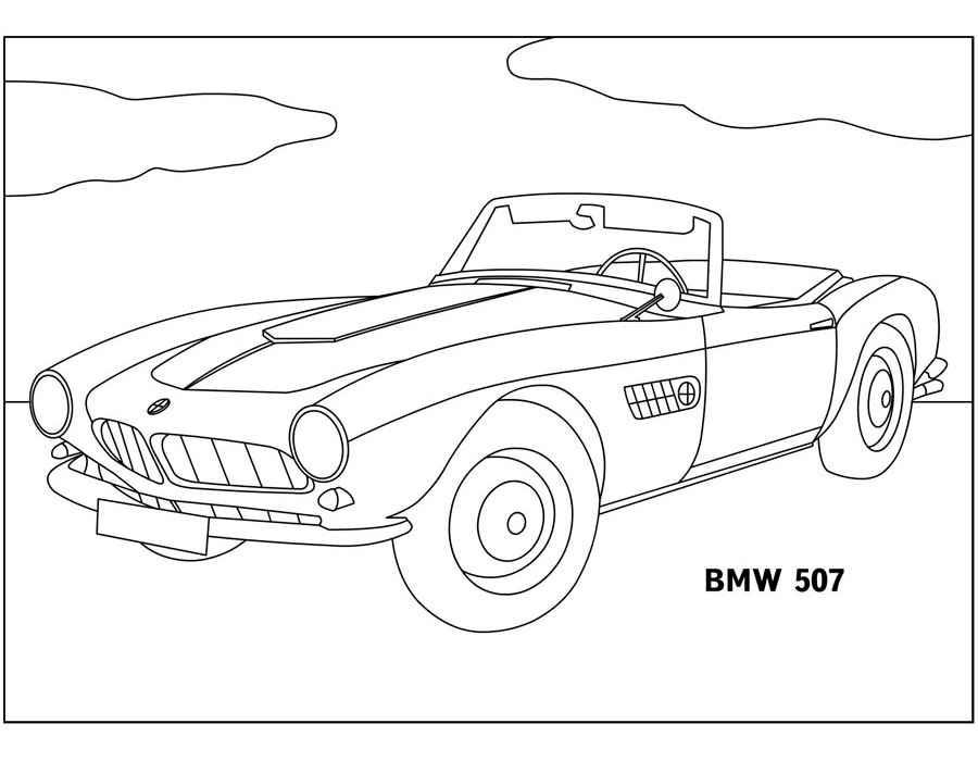 Раскраски Ретро автомобили скачать и распечатать.