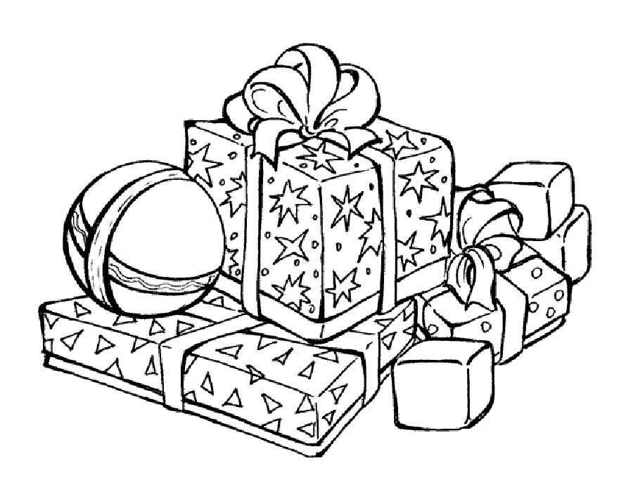 гора подарков рисунок его