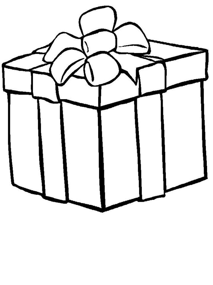 картинки раскраски коробок подарков планах формирования