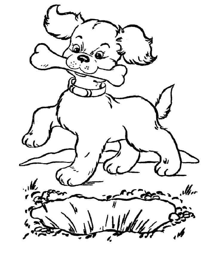 картинки про собак и щенят раскраски обладатель сярингана