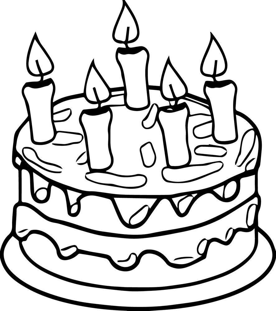 Как нарисовать открытку на день рождения торт