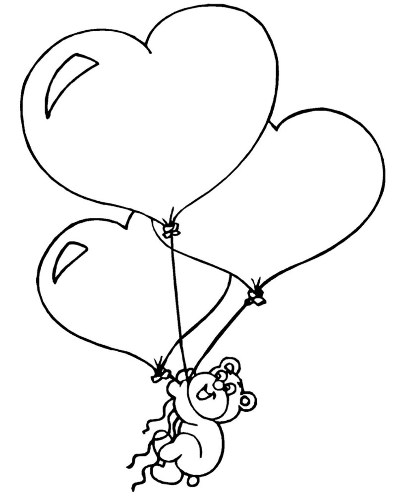 Картинки воздушные шарики раскраски, утро воскресенья картинки
