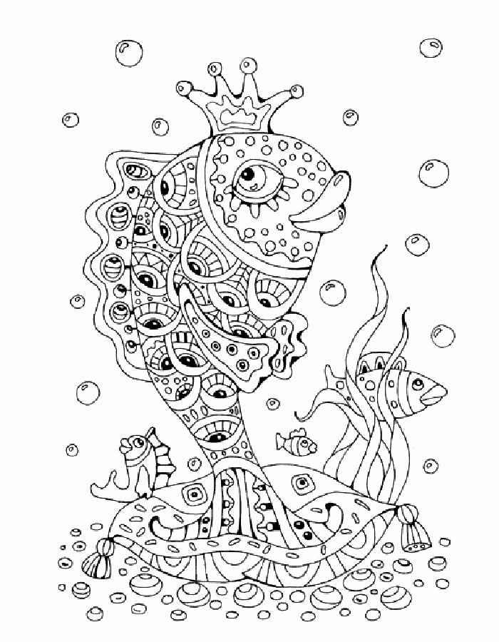 Раскраски К сказке Золотая рыбка скачать и распечатать.