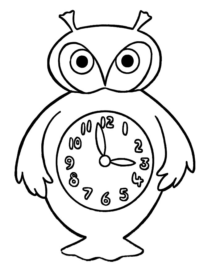 этим картинки раскраски часов разной формы выиграла