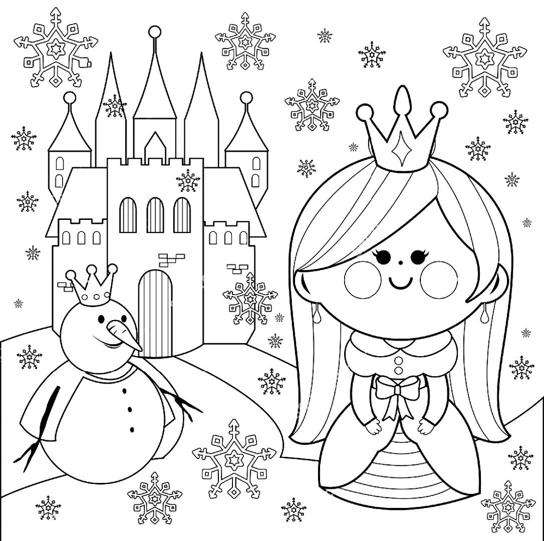 Раскраски К сказке Снежная королева скачать и распечатать.