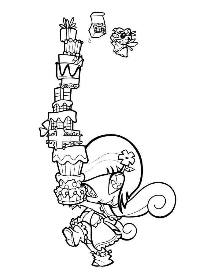 Раскраски Винкс Пикси скачать и распечатать.