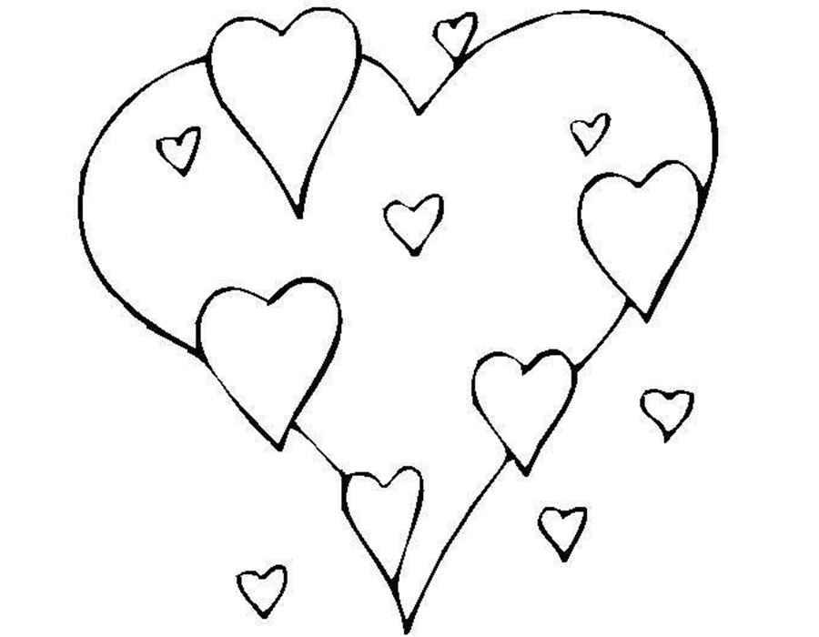 раскраски сердечки скачать и распечатать