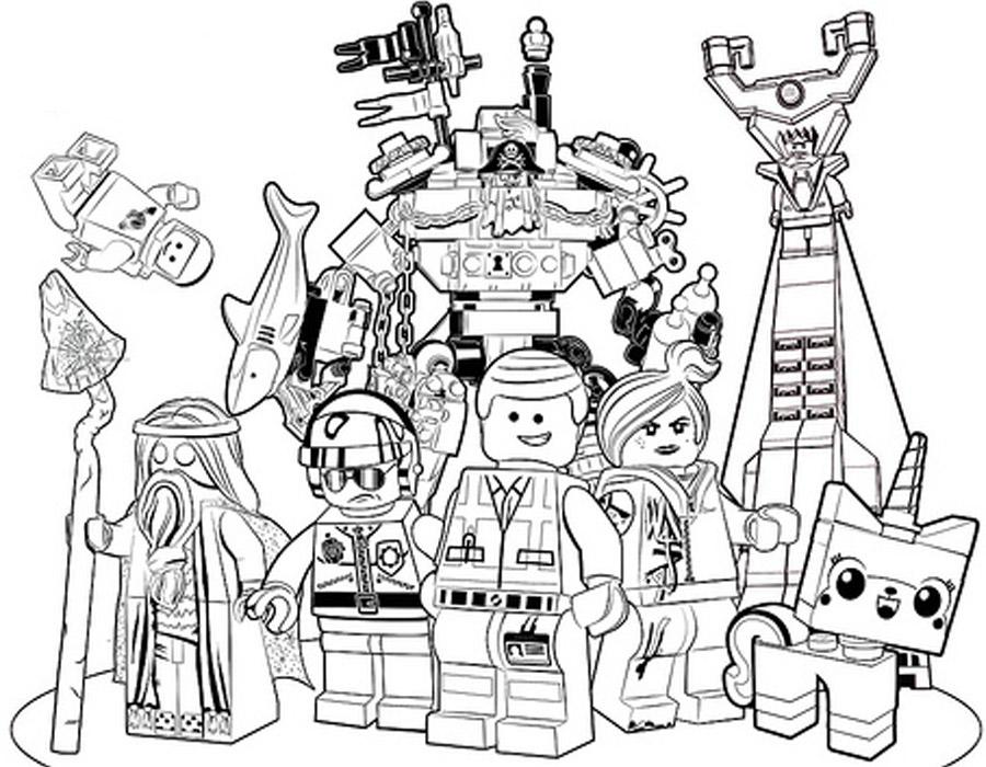 Раскраски Лего скачать и распечатать.