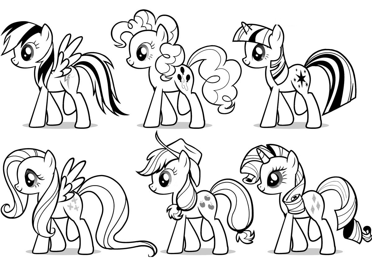 my little pony coloring pages - HD1200×800